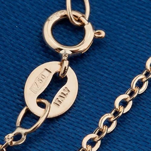 Virgen Milagrosa collar oro 750/00 - gr 1,30 s2