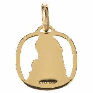 Virgin Mary with baby Jesus pendant in 18k gold 1,28 s2