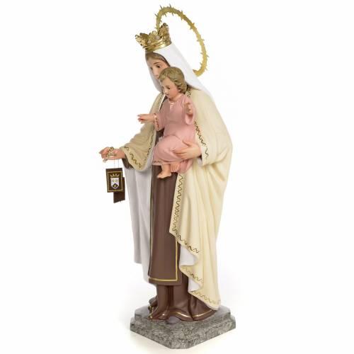 Virgin of Mount Carmel 40cm, wood paste, fine decoration s2