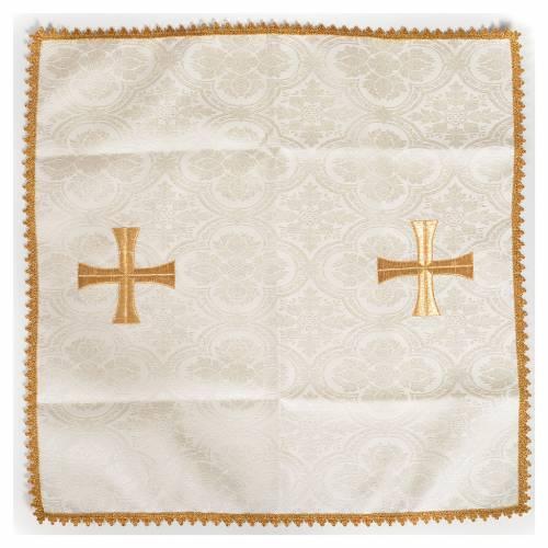 Voile de calice croix dorée s4