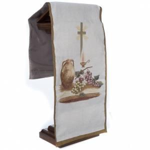 Voile de lutrin amphore, raisins, croix s4