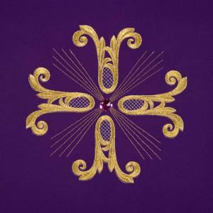 Voile de lutrin croix dorée perle en verre s7