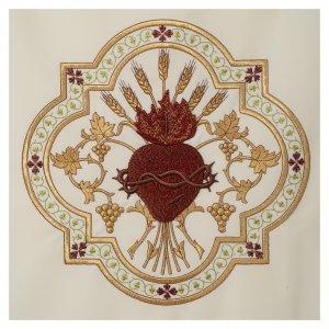 Voile lutrin Sacré-Coeur de Jésus broderie rouge s3