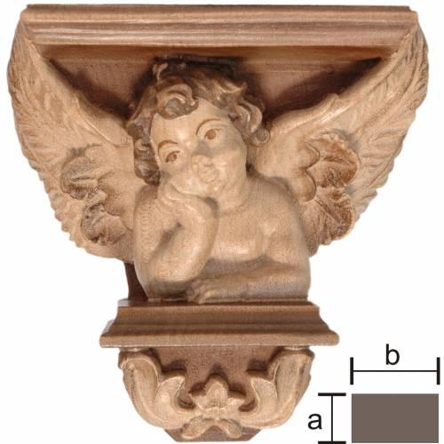 Wall shelf for statues, Raffaello model multi-patinated s1