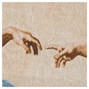 Wandteppiche: Wandteppich Erschaffung Adams 72x130cm