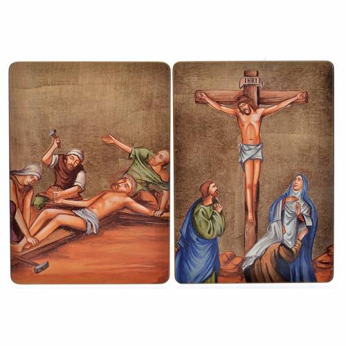 Way of the cross, 15stations in wood s8