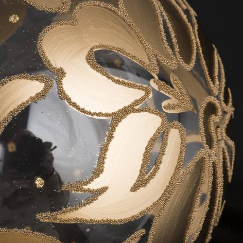 Weihnachtskugel Baum geblasenes Glas golden 15 cm s3