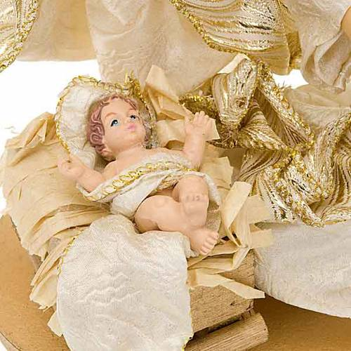 White and gold nativity set, 25cm s2