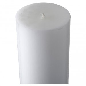 White Paschal Candle, cross with Alpha and Omega s5