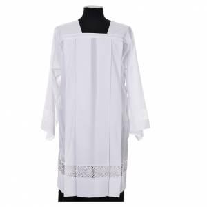 White Surplice 100% polyester lace partition 4 pleats s1