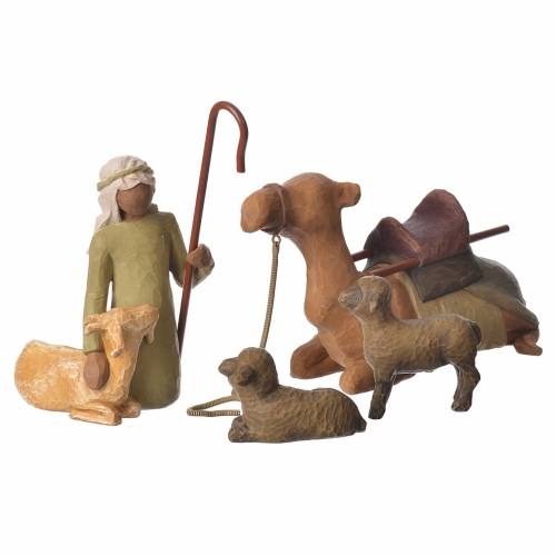 Willow Tree - Shepard and stable Animals (Pastore con animali) 19cm s1