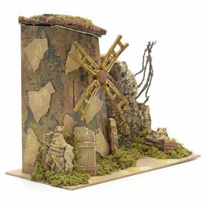 Watermills and windmills: Wind mill for nativities measuring 18x15cm