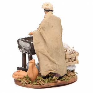 Woman kneading with wooden stall, Neapolitan nativity figurine 12cm s3