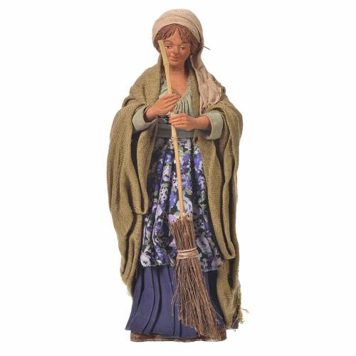 Woman sweeping, 24cm Animated Neapolitan nativity s1