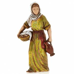 Woman with basket, nativity figurine, 8cm Moranduzzo s1