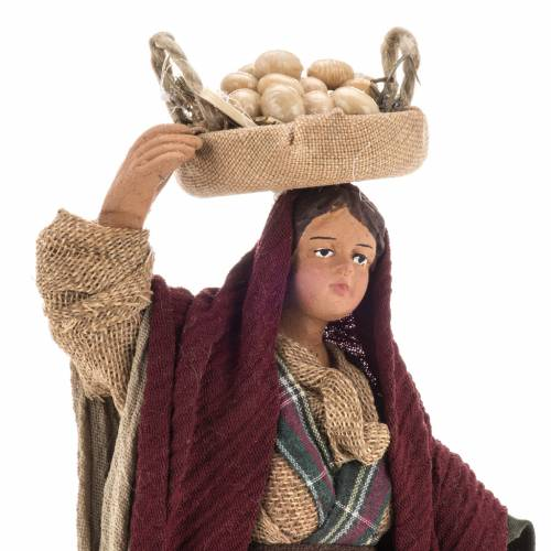 Woman with egg baskets 14 cm nativity set s2