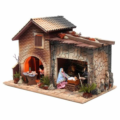 Woman working in the kitchen, animated nativity figurine, 12cm s3