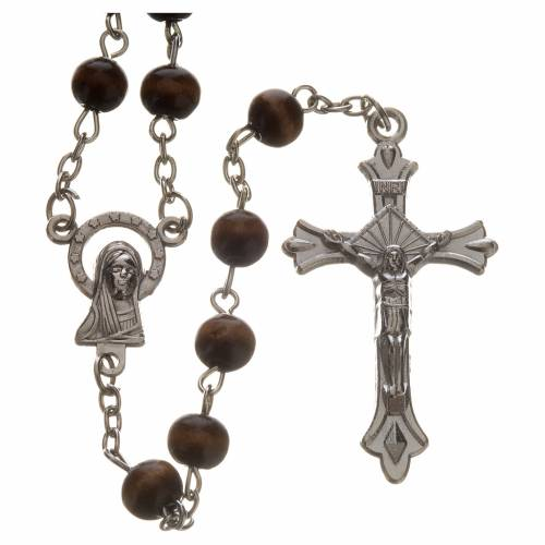 Wood rosary with 7mm beads s1