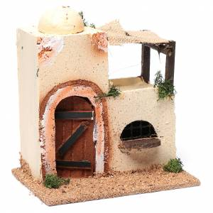 Settings, houses, workshops, wells: Wooden Arabian house for nativity scene (assorted models)20x15x10 cm