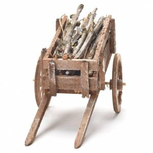 Wooden cart, Neapolitan Nativity 12x20x8cm s4