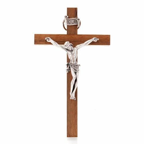 Wooden crucifix, straight 12x7 cm s1