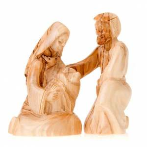 Nativity sets: Wooden nativity of Bethleem, 12cm
