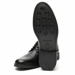Zapatos verdadero cuero negro opaco con punta cortada s6