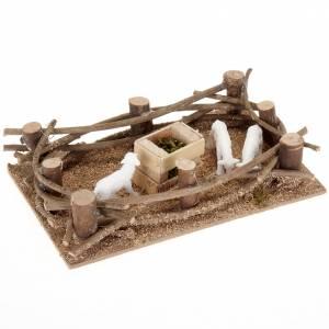 Krippentiere: Zaun mit Schäfchen Selber-Bauen-Krippe 16x10 cm