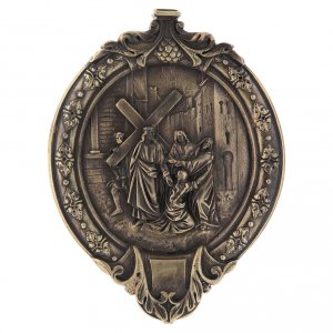 15 Stations of the cross wood paste and bronze s5