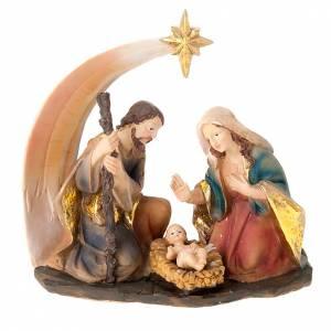 Nativity scene set comet star holy family s1