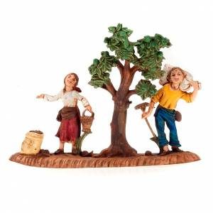 Nativity setting, farmer and sower figurines 10cm s1