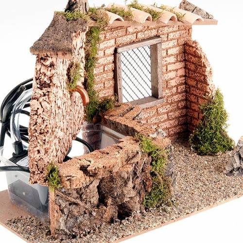 Accessory for do-it-yourself nativity sets: electrical fountain s4