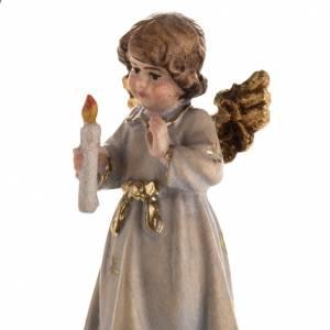 Addobbo di Natale angelo stelle con candela s6
