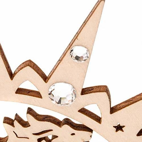 Addobbo natalizio stella intagliata renne con Swarovski s6
