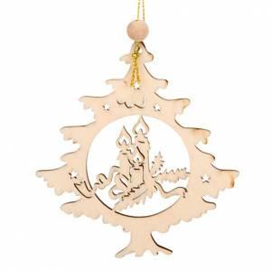 Adornos de madera y pvc para Árbol de Navidad: Adorno árbol navidad colgable vela