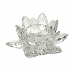 Candle holders: Glass flower candle-holder