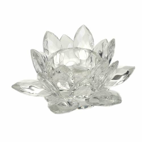 Glass flower candle-holder s1