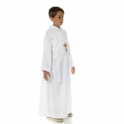 Alb with hood for first communion s3