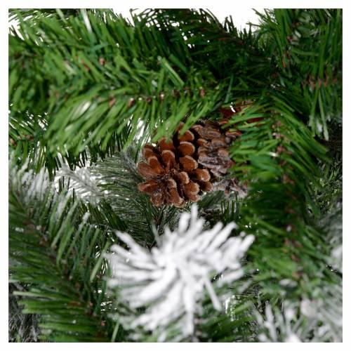 Albero di Natale 210 cm floccato pigne Oslo s5