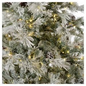 Albero di Natale 270 cm brinato pigne e brillantini 700 luci led s2