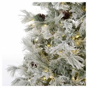 Albero di Natale 270 cm brinato pigne e brillantini 700 luci led s3