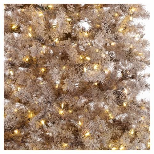 Albero di Natale marrone 230 cm brinato pigne e luci led 400 s2