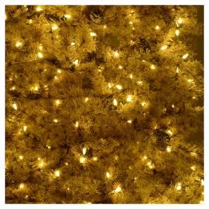 Albero di Natale marrone 230 cm brinato pigne e luci led 400 s6
