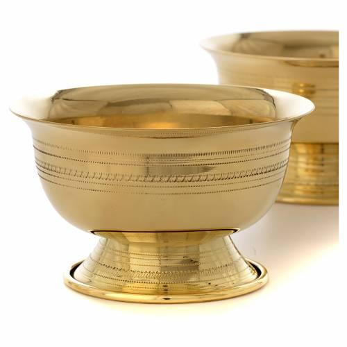 Altar candle holder in brass Bethlehem Monks s2