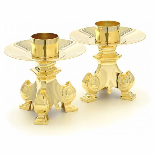 Altar crucifix and candle holders s3