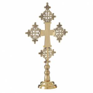 Altar crucifix Christ glorious Bethlehem monks 31x19cm s3