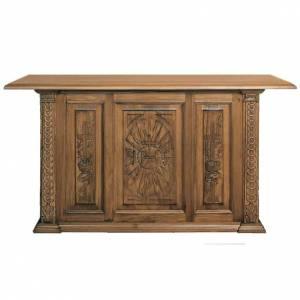 Ambones, reclinatorios, mobiliario religioso: Altar de madera maciza entallada a mano