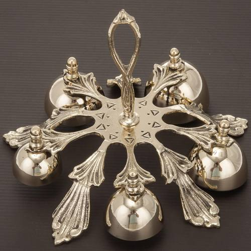 Altar handbell five sounds decorated s2