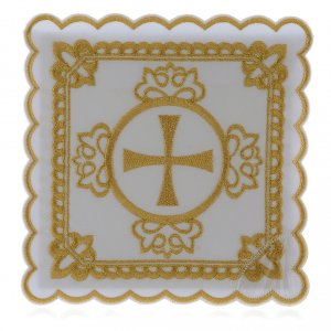 Altar linens: Altar linen cross, golden embroideries, cotton