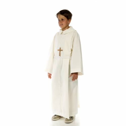 Altar server alb in polyester and wool s2